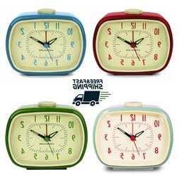 Retro alarm clock 1980s Vintage inspired beep alarm clock Bl