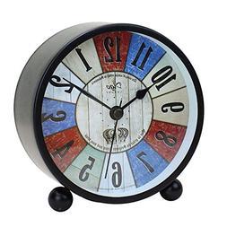 "4.5"" Retro Alarm Clock Vintage Room Home Nursery Decor Desk"