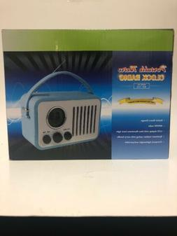 Retro AM/FM Radio, Portable Alarm Clock Radio with LCD Scree