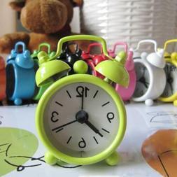 Retro Portable Cute Mini Cartoon Alarm Clock Round Number Do