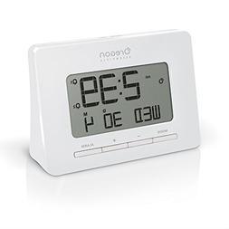 Oregon Scientific RM938 White Alarm Atomic Clock for Office