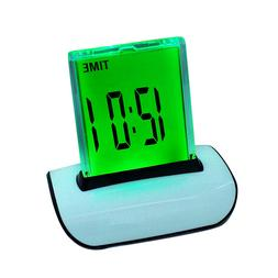 Safty LED Digital Alarm Clock Changing Thermometer LCD Desk