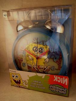 SALE Spongebob Squarepants Jumbo Twin Bell Alarm Clock 12 in
