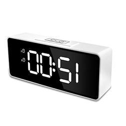 """Sanlinkee Digital Alarm Clock for Bedroom,6.4"""" Mirror Surf"""