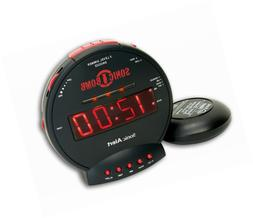 Sonic Alert SBB500SS Bomb Extra-Loud Dual Alarm Clock with R