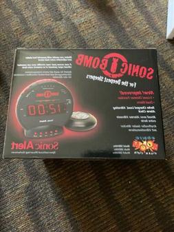 sbb500ss loud sonic bomb alarm clock vibrating