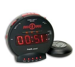Sonic Alert SBB500SS Sonic Bomb Extra-Loud Dual Alarm Clock