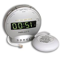 Sonic Alert SBT425ss Sonic Boom Alarm Clock - Silver