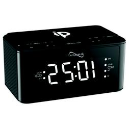 Supersonic SC6030QIBLK Clock Radio With Qi Wireless Charging