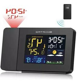 SMARTRO SC91 Projection Alarm Clock for Bedrooms with Weathe