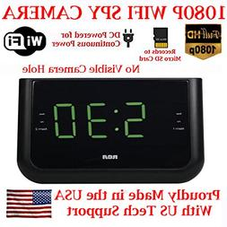 SecureGuard 1080P HD WiFi Wireless IP Alarm Clock Radio Hidd