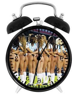 "Sexy Soccer Girls  Alarm Desk Clock 3.75"" Room Office Decor"