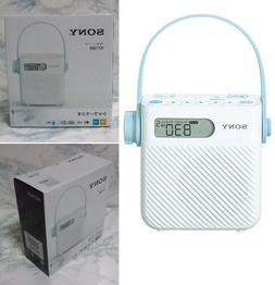 Shower Radio FM/AM/Wide ICF-S80 Clock Waterproof Sony