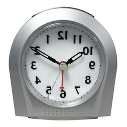 Equity Silver Silent Sweep Analog Alarm Clock
