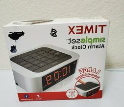 Timex Simple Set Alarm Clock Electric LARGE Easy To Set Keyp
