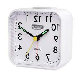 Peakeep Small Battery Operated Analog Travel Alarm Clock No