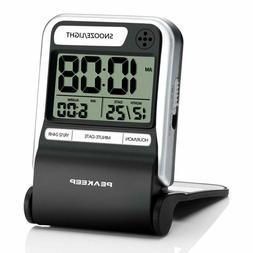 small battery travel alarm clock ascending beep