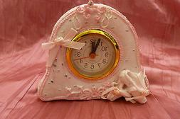 Small Desk Mantle Clock w/Alarm PINK  For Mary Kay gifts, gi