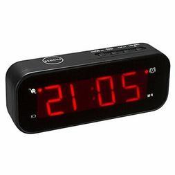 KWANWA Small Digital Alarm Clock for Travel with LED Tempera