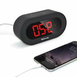 Reacher Small Digital Alarm Clock With Usb Port Phone Charge
