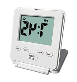 Small Digital Travel Alarm Clock No Bells and Whistles Basic