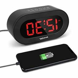 REACHER Small LED Digital Alarm Clock With Simple Operation,