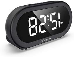 USCCE Small LED Digital Alarm Clock with Snooze, 1224HR, eas