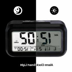 Smart Digital Alarm Clock Sensor TIME SPEAK Temperature Back