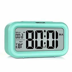 Peakeep Smart Night Light Digital Alarm Clock with Indoor Te