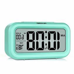 PEAKEEP Smart Night Light Digital Alarm Clock Indoor Tempera