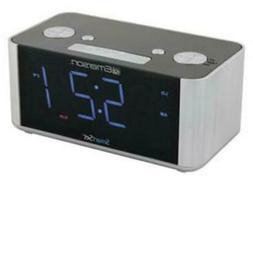 Emerson Smart Set Dual Gradual Alarms Clock FM USB Charging