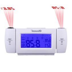 FunnyToday365 Digital Lcd Snooze Dual Projection Alarm Clock