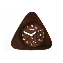 Henghui Solid Wood Non Ticking Analog Quartz Alarm Clock wit
