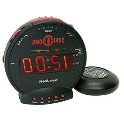 Sonic Boom SBB500ss Sonic Bomb Loud Plus Vibrating Alarm Clo