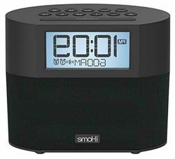 iHome iBT231 Bluetooth Dual Alarm FM Clock Radio with Speake
