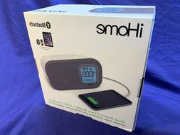 iHome iBT210WS Bluetooth Dual Alarm FM Clock Radio with Spea