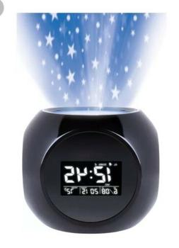 Sharper Image Sound Machine Projection Alarm Clock Stars Soo