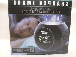 Sharper Image Sound Machine Projection Alarm Clock with 6 Na