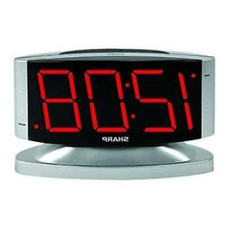 Sharp SPC033D Red LED Alarm Clock with Swivel Case