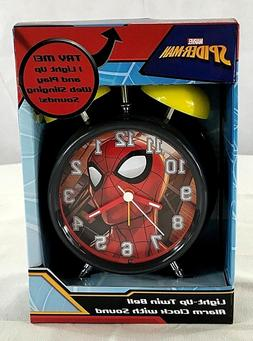 Marvel Spider-Man Light-up Twin Bell Alarm Clock with Sound