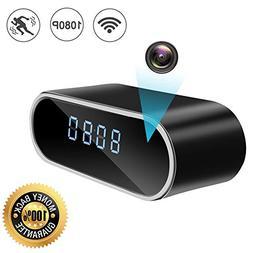 ZDMYING Spy Hidden Camera, Alarm Clock 1080P WiFi Nanny Came