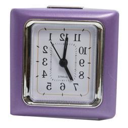 Square Quartz Alarm Clock - Purple