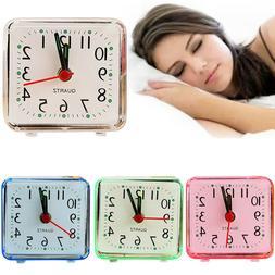 Square Simple Quartz Beep Alarm Clock Cute Portable Travel T
