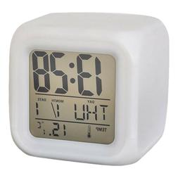 Square Small LED Change Digital Glowing Travel Alarm Clock N
