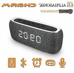 Alphasonik Wireless Bluetooth Portable Speaker FM Radio Digi