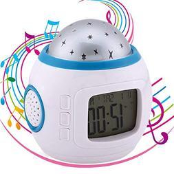Fuxinone Star LED Clock Children Sky Star Night Light Projec