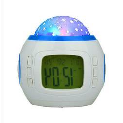 Star Sky Projection Alarm Clock Kids Digital Music Calendar