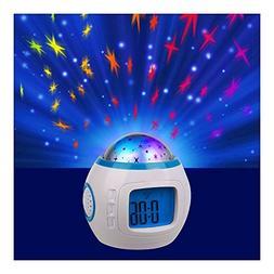 Starry Sky Night Light Projection Music Digital Alarm Clock