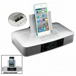 Capello Stereo FM Dual Alarm Clock Radio w/Lightning Dock fo