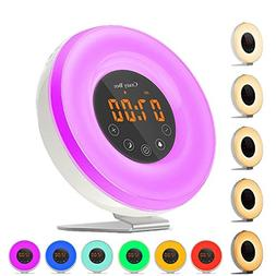 Sunlight Alarm Clock,Best Sunrise Wake Up Light with 6 Natur